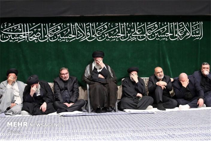 آخرین شب مراسم عزاداری اباعبدالله(ع) باحضور رهبر انقلاب برگزار شد