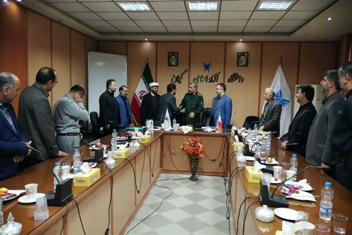 مراسم معارفه سرپرست پایگاه بسیج کارمندان دانشگاه آزاد اسلامی استان گیلان برگزار شد