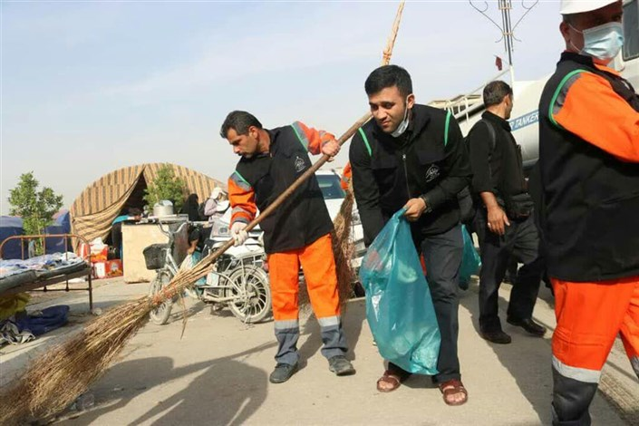 ارسال 15 تریلی اقلام نظافت و رفت و روب به نجف و کربلا/ اعزام  1500 نفرنیروی خدمات شهری به  اربعین