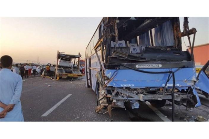 مصدومیت ۱۷ مسافر در تصادف زنجیرهای پایتخت