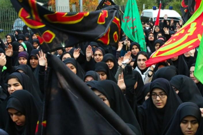 عزاداری هزاران نفر از دانشجویان سراسر کشور در محضر رهبر معظم انقلاب