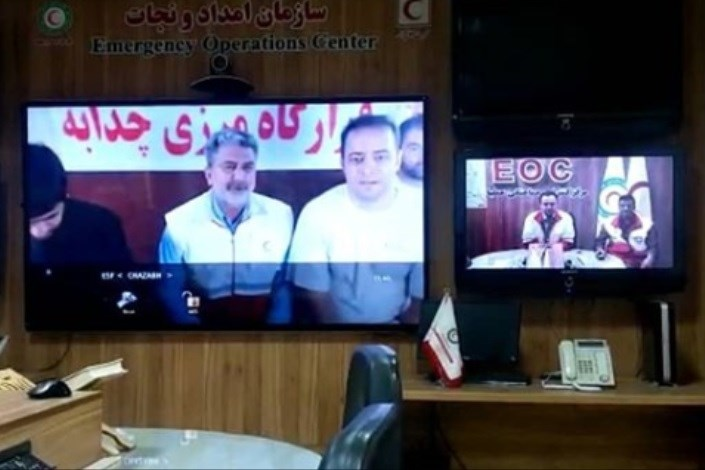 ارتباط ماهوارهای ایستگاههای سازمان هلال احمر در4 نقطه مرزی برقرار شد