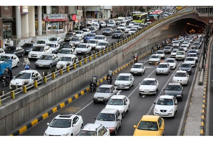 وضعیت ترافیکی معابر بزرگراهی پایتخت دراولین پنجشنبه آبان
