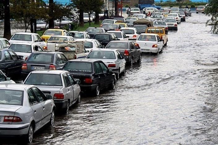 در باران 8 ساعته تهران آبگرفتگی نداشتیم