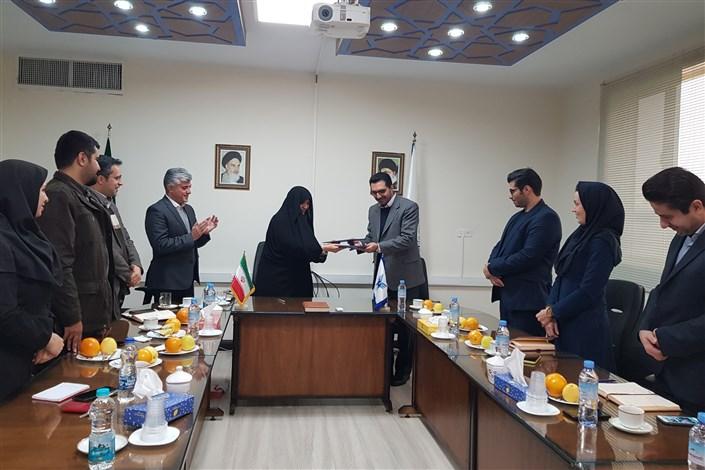 انعقاد تفاهم نامه همکاری بین واحد تهران غرب و شرکت کارگزاری بانک صنعت و معدن
