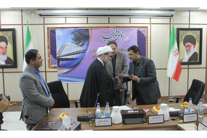 قرارداد همکاری بین واحد خوزستان و شرکت فولاد منعقد شد