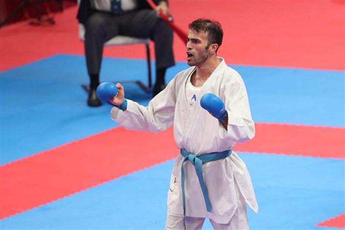 دعوت بهمن عسگری قهرمان کاراته به پویش #من_ماسک_میزنم