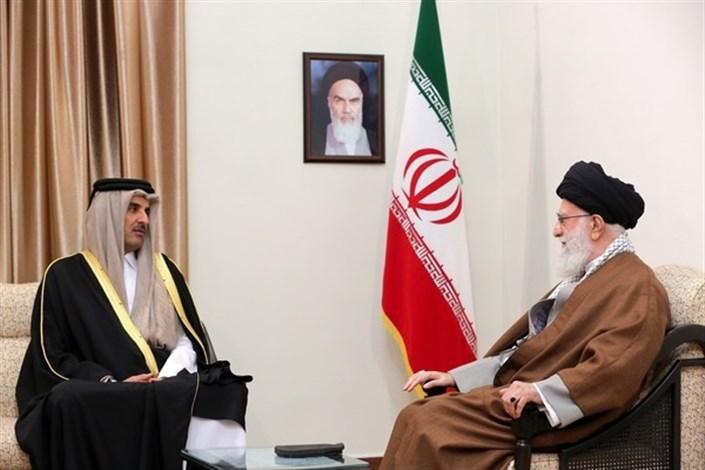 سطح همکاریهای دو کشور افزایش پیدا کند/ تشکر امیرقطر از حمایتهای ایران در زمان تحریم این کشور
