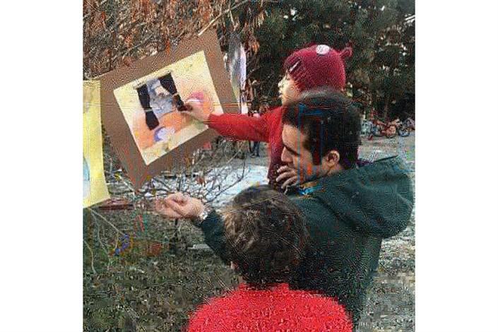 جشنواره هوای پاک در بام هنر بوستان جنگلی سرخه حصار برگزار شد