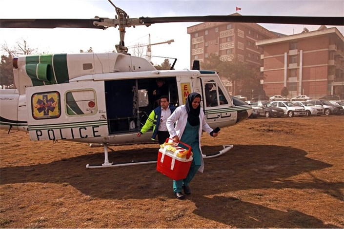 انتقال هوایی قلب جوان 20 ساله از رفسنجان به تهران