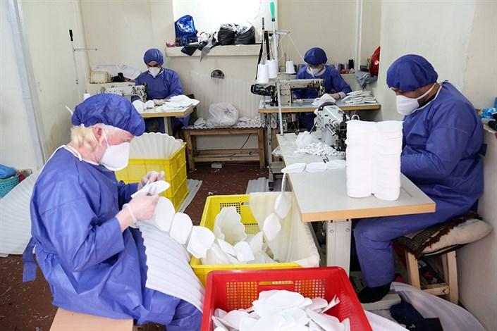 تولید روزانه 50 هزار ماسک با حمایت بنیاد برکت