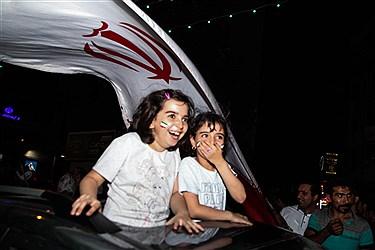 شادی مردم تهران در خیابان ها بعد ازبازی ایران و پرتقال