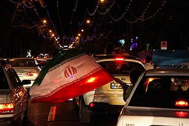 شادی مردم تهران در خیابان ها بعد از بازی ایران و پرتغال