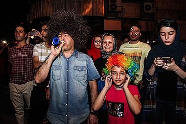 شادی مردم بعد ازتساوی مقابل پرتقال