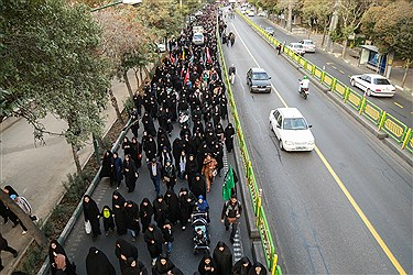 راهپیمایی جاماندگان اربعین حسینی در تهران
