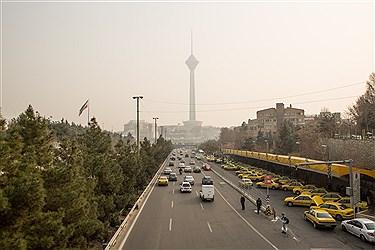 کاهش کیفیت هوای مناطق پرتردد پایتخت طی امروز