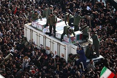 مراسم تشیع شهید سردار قاسم سلیمانی در تهران(۱)