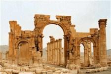 """داعش """"طاق نصرت"""" شهر پالمیرا سوریه را منهدم کرد"""