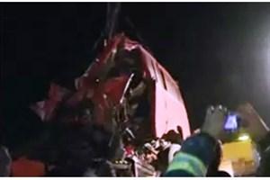 ویدیو /  تصادف مرگبار در محور قم -  تهران با ۲۰ کشته