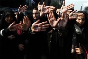 حضور تشکل های دانشجویی دانشگاه آزاد اسلامی در راهپیمایی 13 آبان