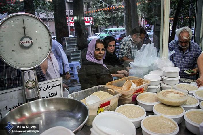 آش و حلیم فروشی در ماه رمضان