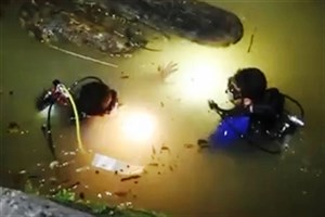 ویدیو / تصاویر دلهره آور از تلاش غواصان هلال احمر در اعماق یک آبشار