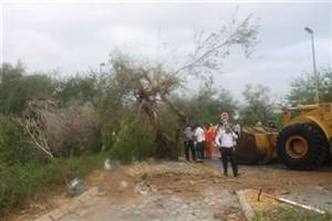 رئیس ستاد بحران کیش :توفان خسارت جانی به همراه نداشت