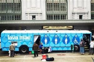 بی خانمانها در این اتوبوس حمام می کنند