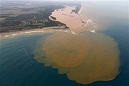 آلودگی حاصل از شکستن سد در برزیل به دریا رسید