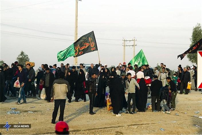 زائرین اربعین حسینی در مرز مهران