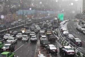 بارش برف و باران و ترافیک صبحگاهی در راههای کشور