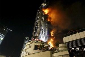 علت آتش سوزی در هتل آدرس دبی مشخص شد