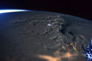 توفان برف آمریکا از ایستگاه فضایی/عکس