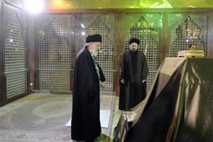 حضور رهبر انقلاب در حرم مطهر امام خمینی