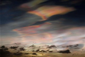Beautiful Rare Nacreous Clouds in England