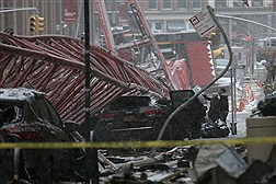 سقوط جرثقیل در منهتن