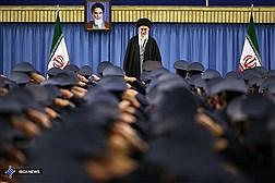 دیدار فرماندهان و کارکنان نیروى هوایى ارتش با مقام معظم رهبری