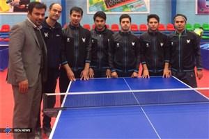 پیروزی مقتدرانه تنیس روی میز دانشگاه آزاد اسلامی برابر رعد  پدافند هوایی