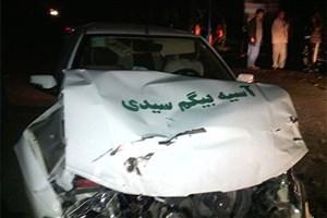 خودروی تصادفی یک نامزد مجلس در گلستان +عکس