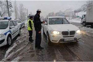 جاده هراز مسدود شد/برف و باران در ۱۴ استان و ترافیک سنگین جاده چالوس