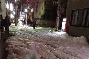 فوم مرموز معابر شهر فوکودوکو  ژاپن را دربرگرفت/تصویر