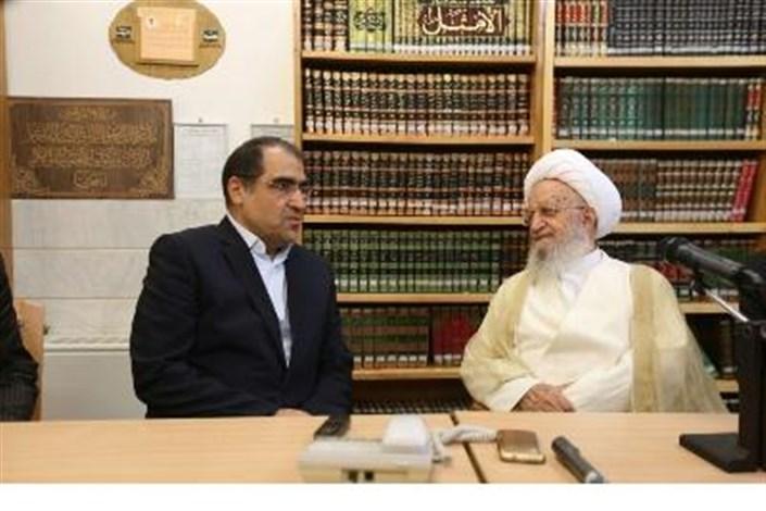 دیدار وزیر بهداشت با آیت الله مکارم شیرازی