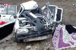 واژگونی خودروی پراید باعث تصادف زنجیره ای  در محور همدان- غار علیصدر شد
