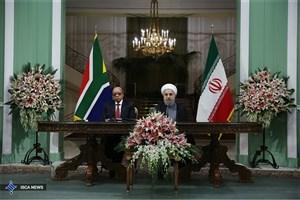 رییس جمهوری : ایران و آفریقای جنوبی برای گسترش همکاریها عزم راسخ دارند