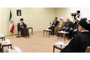 رهبر معظم انقلاب : تحقق تمدن اسلامی بدون الگوی پیشرفت اسلامی ایرانی ممکن نیست/ لزوم گفتمانسازی،کار جهادی وانقلابی