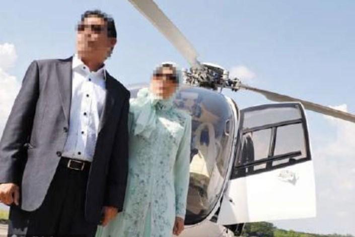 جولان عروس و دامادها   با هلی کوپترهای اجاره ای