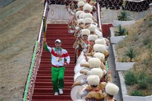 مشعل بازی های آسیایی در ترکمنستان شعله ور شد+عکس