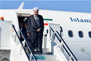 رئیس جمهور پس از ترک چین وارد تهران شد