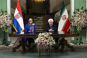 روحانی:  کرواسی میتواند دروازهای برای ارتباط ایران با اتحادیه اروپا باشد