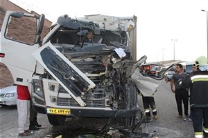 نجات معجزهآسای راننده تریلی در جاده دماوند